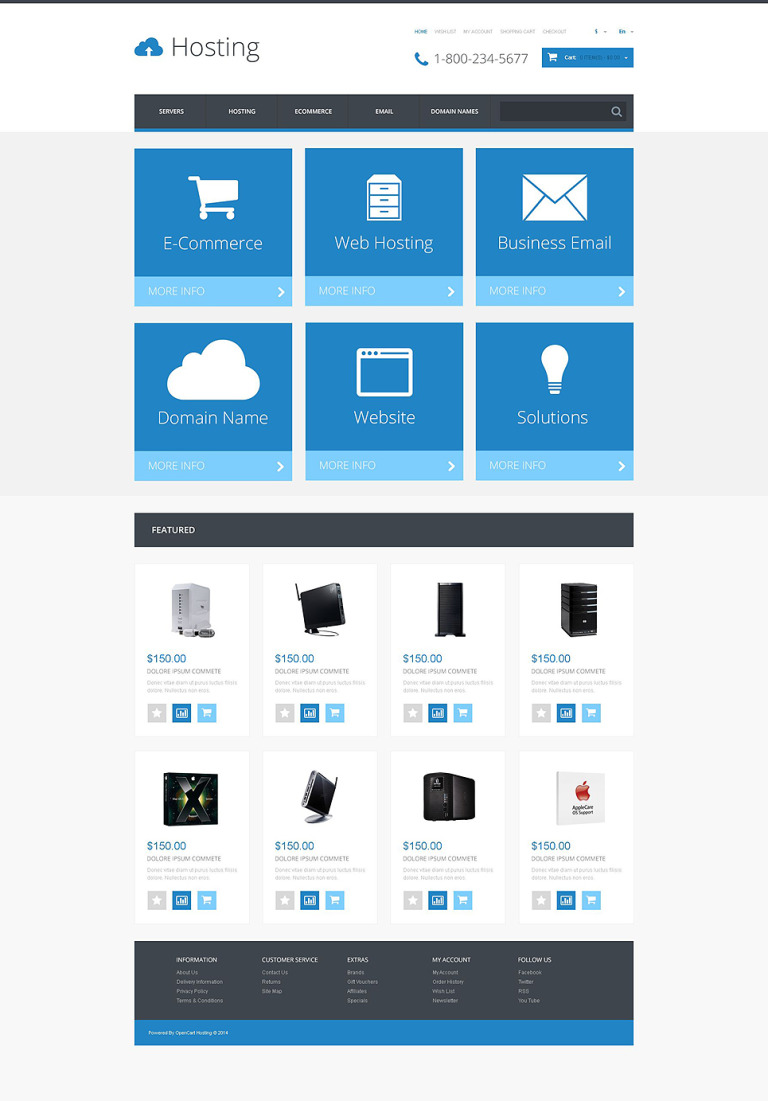 Hosting Responsive OpenCart Template New Screenshots BIG