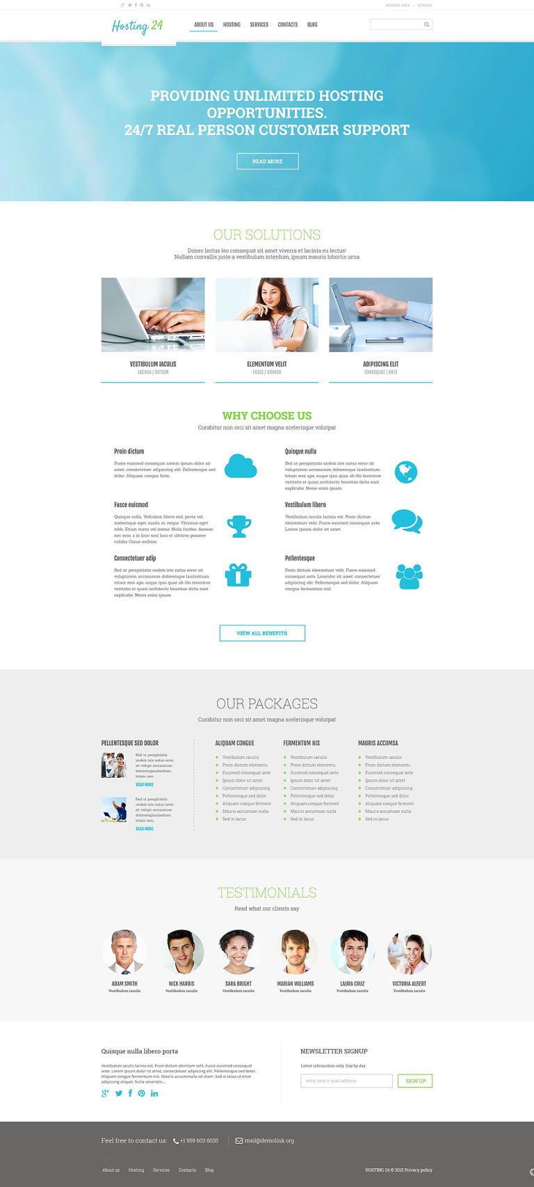 Hosting Responsive WordPress Theme New Screenshots BIG