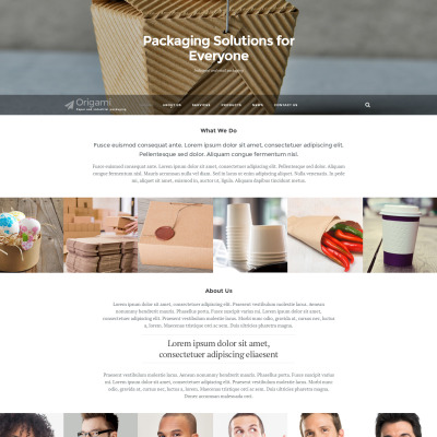 Packaging responsive website template 47175 pronofoot35fo Choice Image