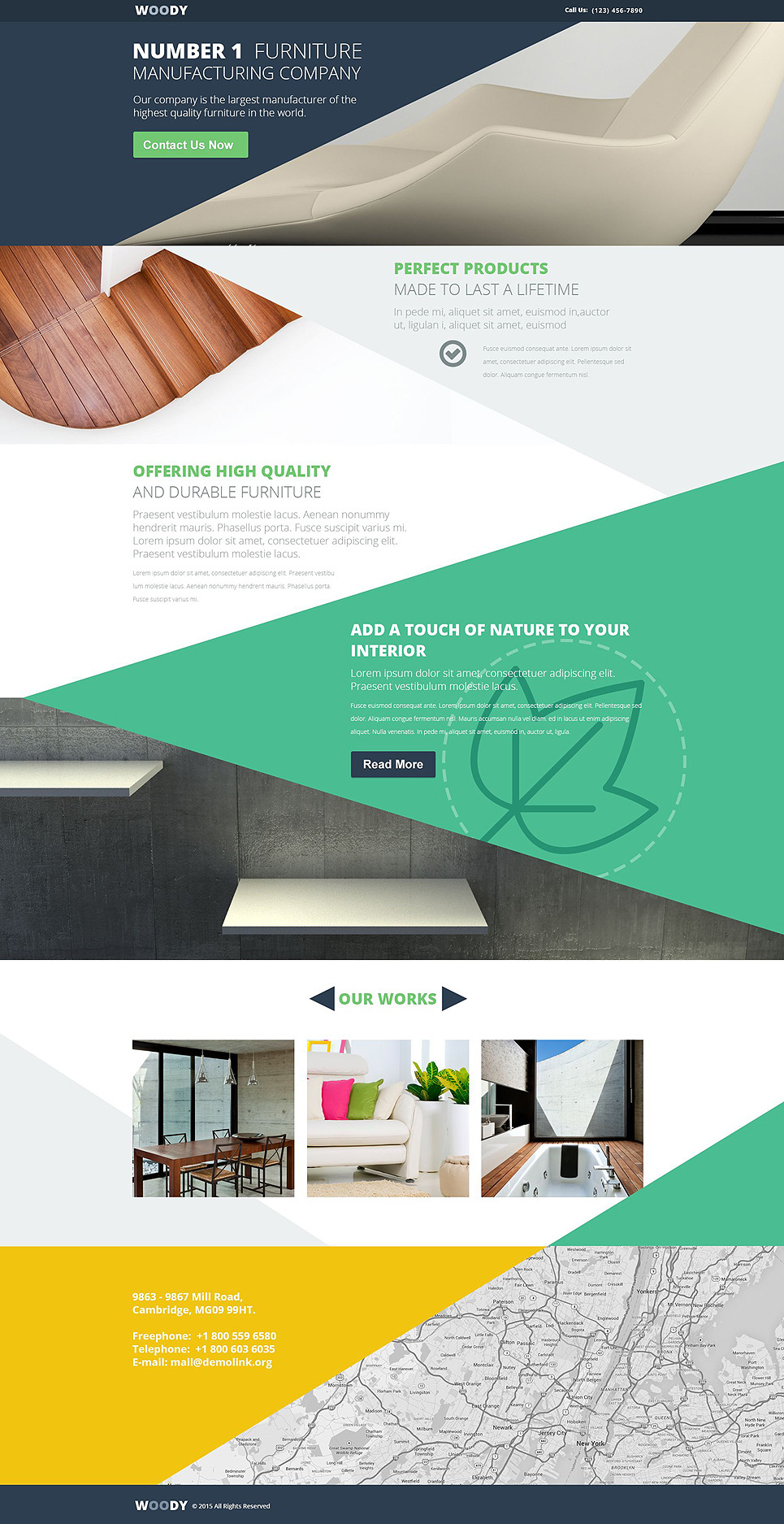 Interior & Furniture Responsive Landing Page Template New Screenshots BIG