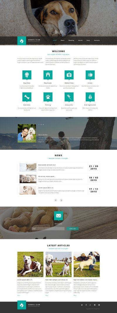 Kennel Club Website Template