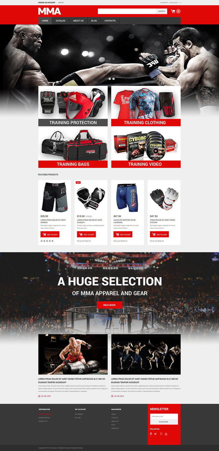 Martial Arts Responsive VirtueMart Template New Screenshots BIG