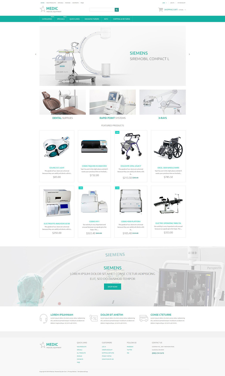 Medic ZenCart Template New Screenshots BIG
