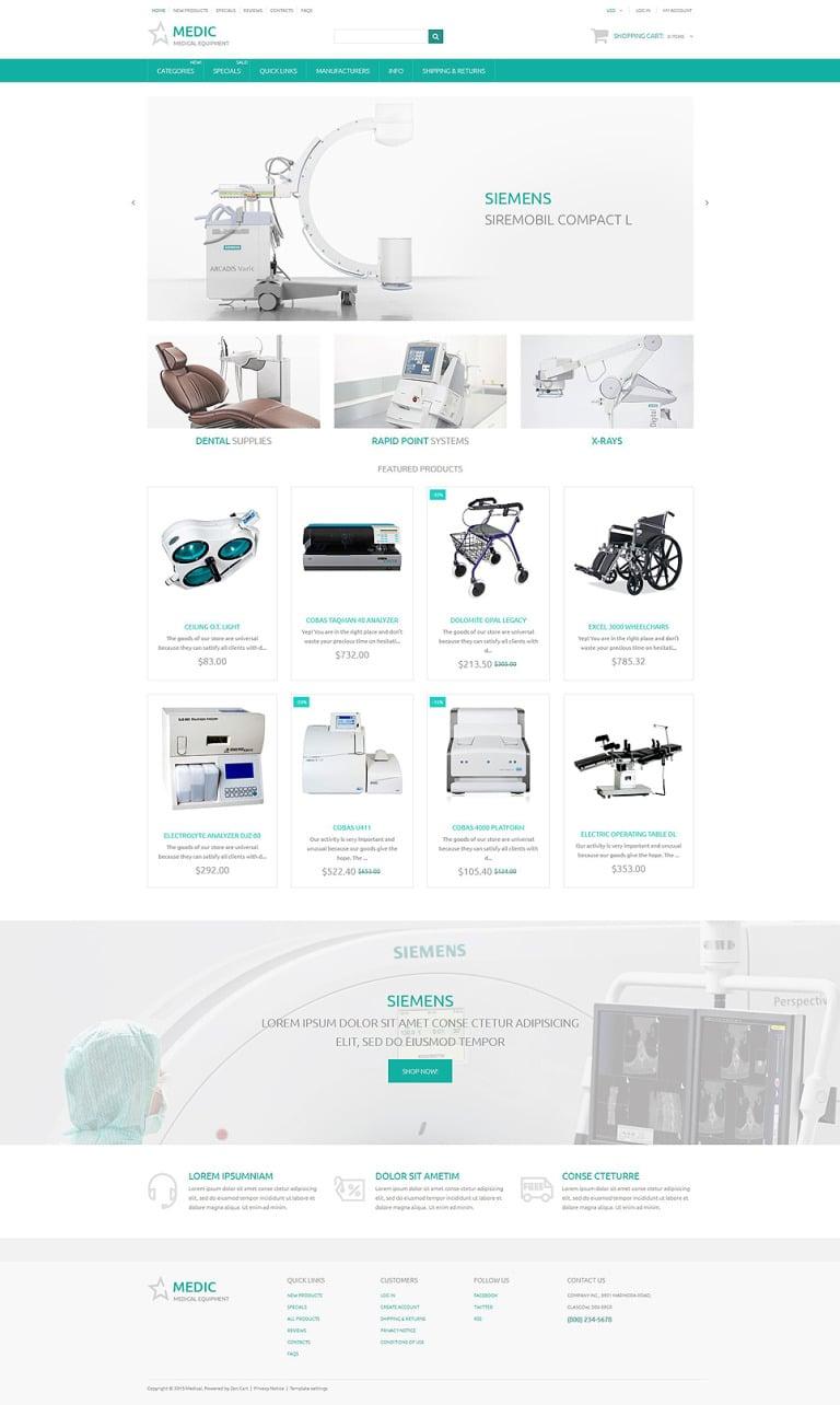 Medic ZenCart Template New Screenshots BIG