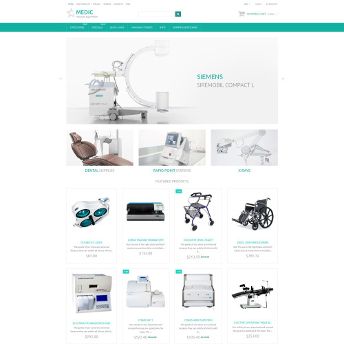 Medic - ZenCart Template based on Bootstrap