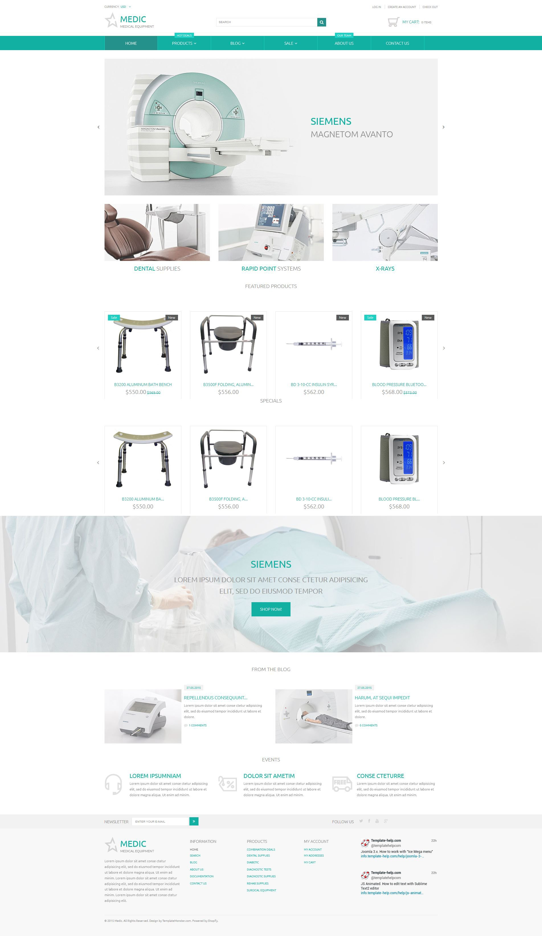 Medical Equipment Responsive Shopify Theme - screenshot