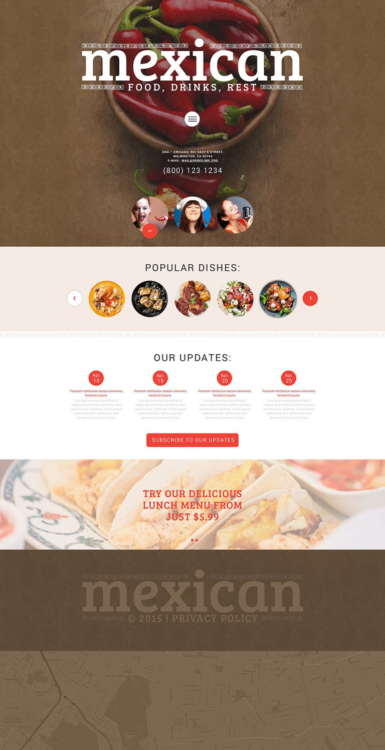 Mexican Food WordPress Theme New Screenshots BIG