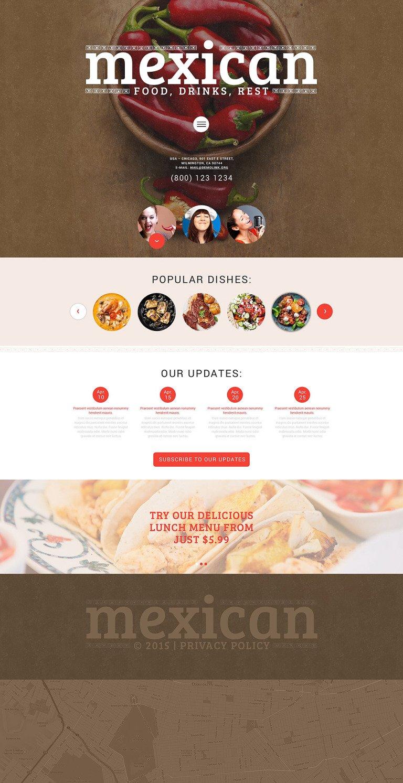 Mexican Food WordPress Theme New Screenshots BIG