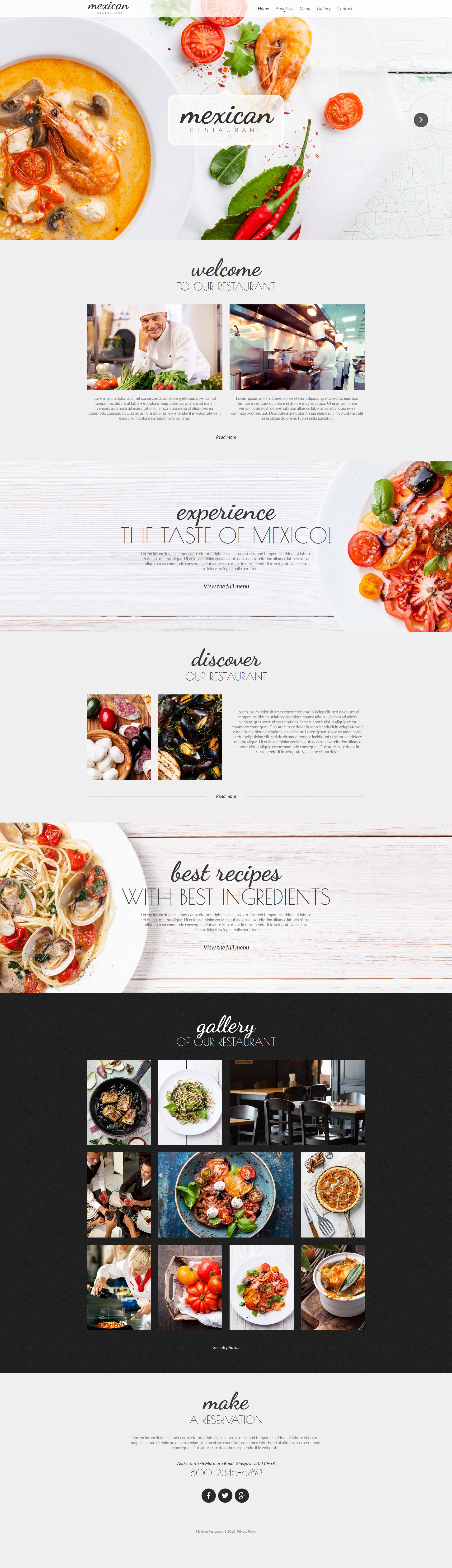 Mexican Restaurant Moto CMS HTML Template