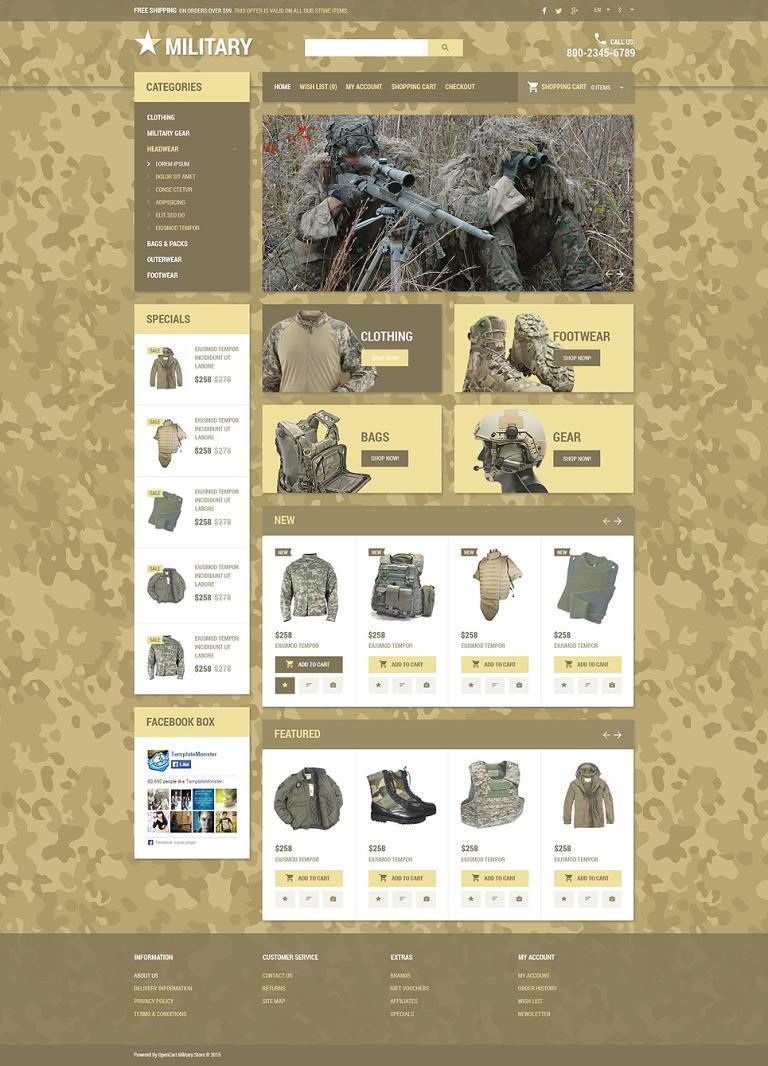 Military Star OpenCart Template New Screenshots BIG