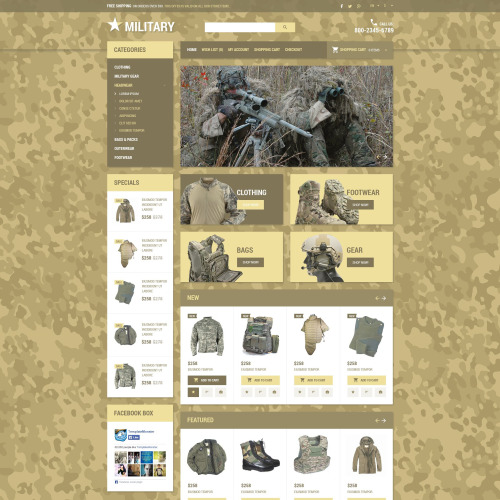 Military  - OpenCart Template based on Bootstrap