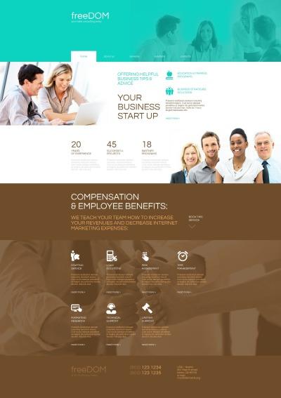 Modèle Moto CMS HTML  pour site d'affaires et de services