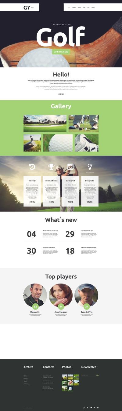 Modèle Moto CMS HTML  pour sites de golf
