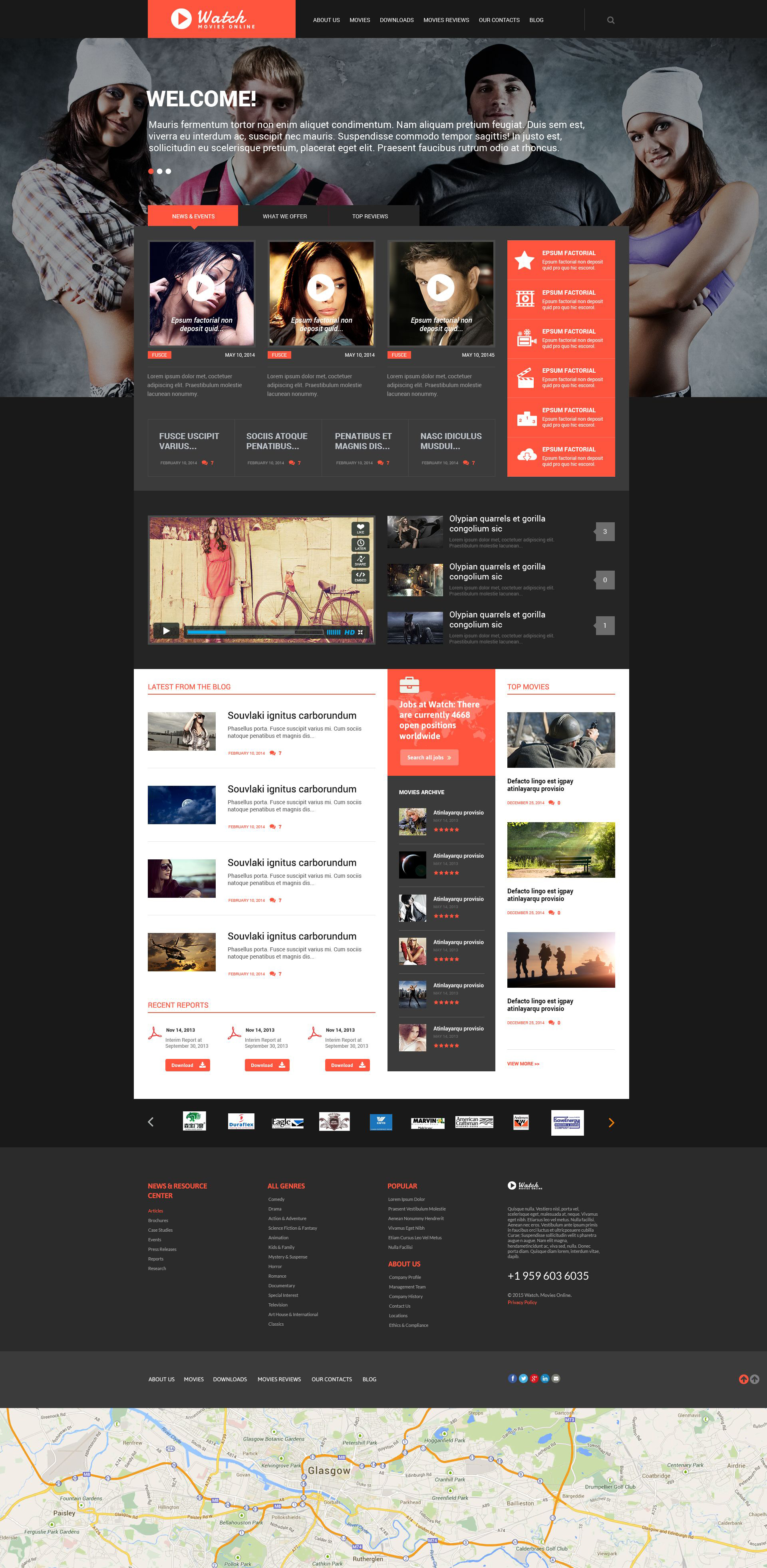Movie Responsive WordPress Theme