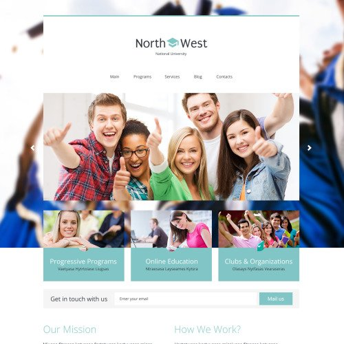 North West - WordPress Template based on Bootstrap