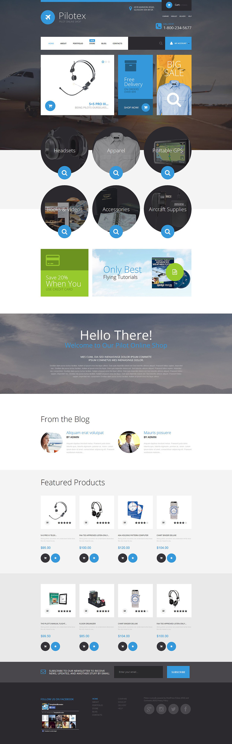 Pilotex WooCommerce Theme New Screenshots BIG