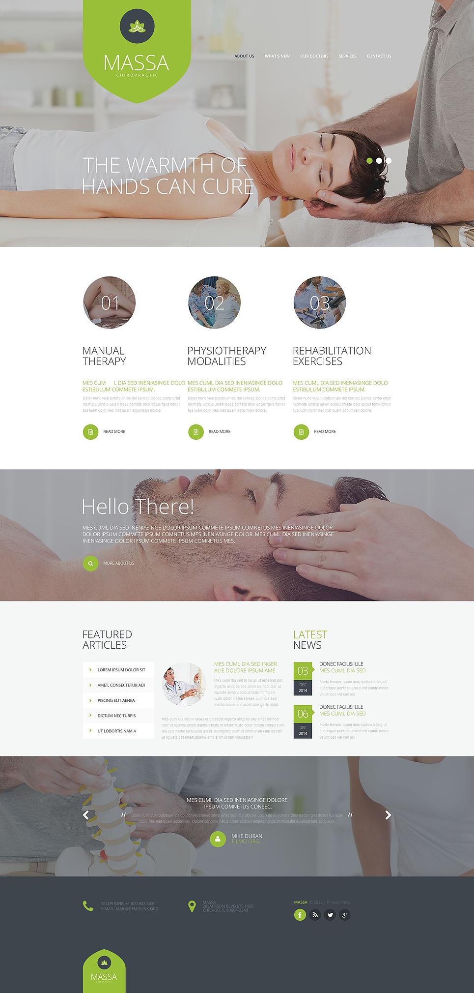 sitio web masaje pequeño