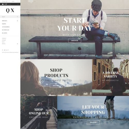 QX - PrestaShop Template based on Bootstrap