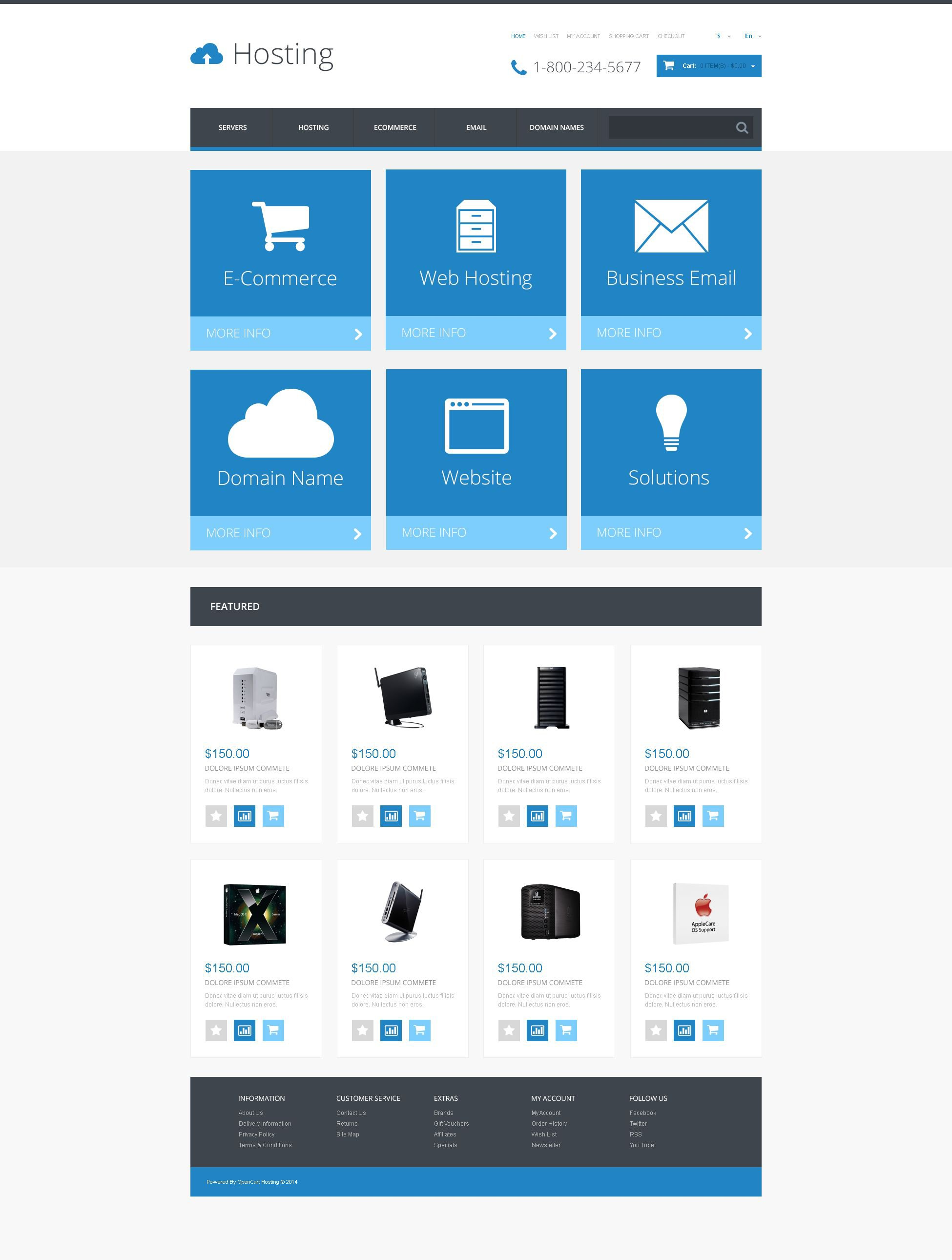Responsive OpenCart Template over Hosting №54797