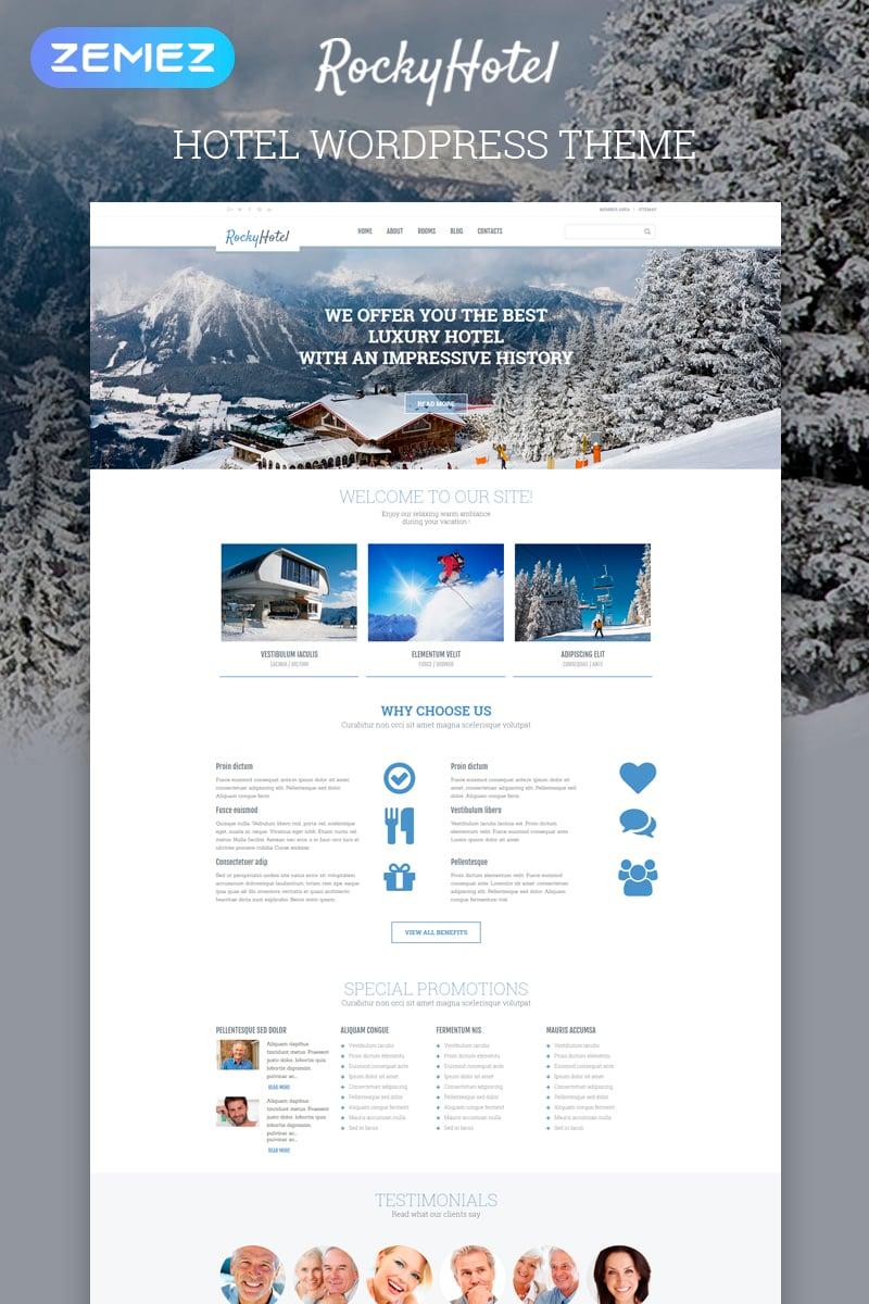 Responsive RockyHotel - Hotel Multipurpose Modern Elementor Wordpress #54792
