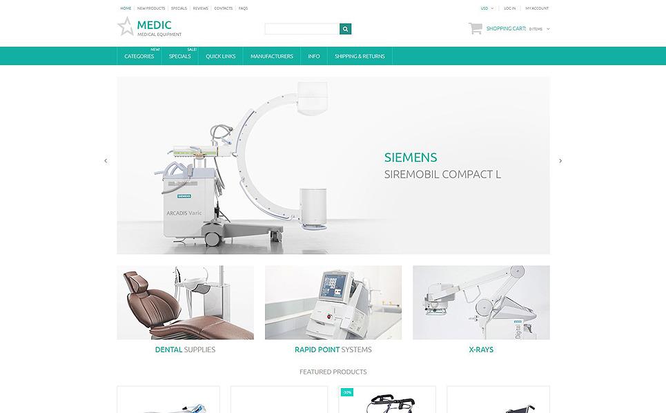 Responsive Tıbbi Malzeme lar Zencart Şablon New Screenshots BIG