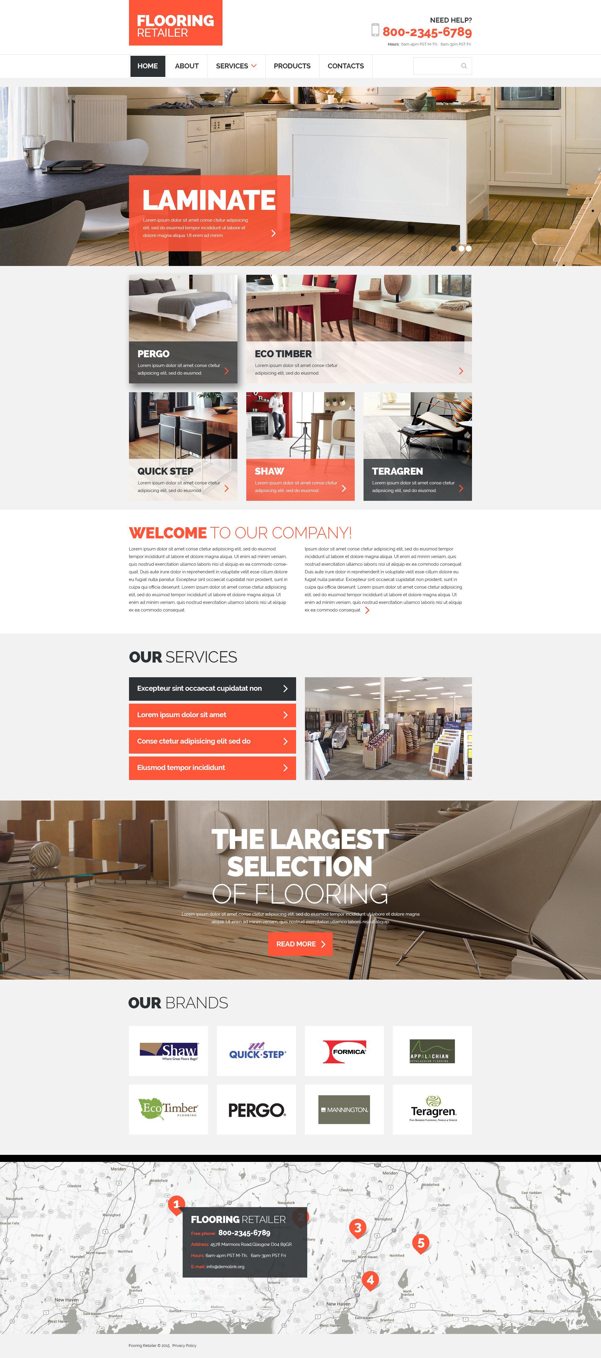 Responsive Website template over Vloerbedekking №54725