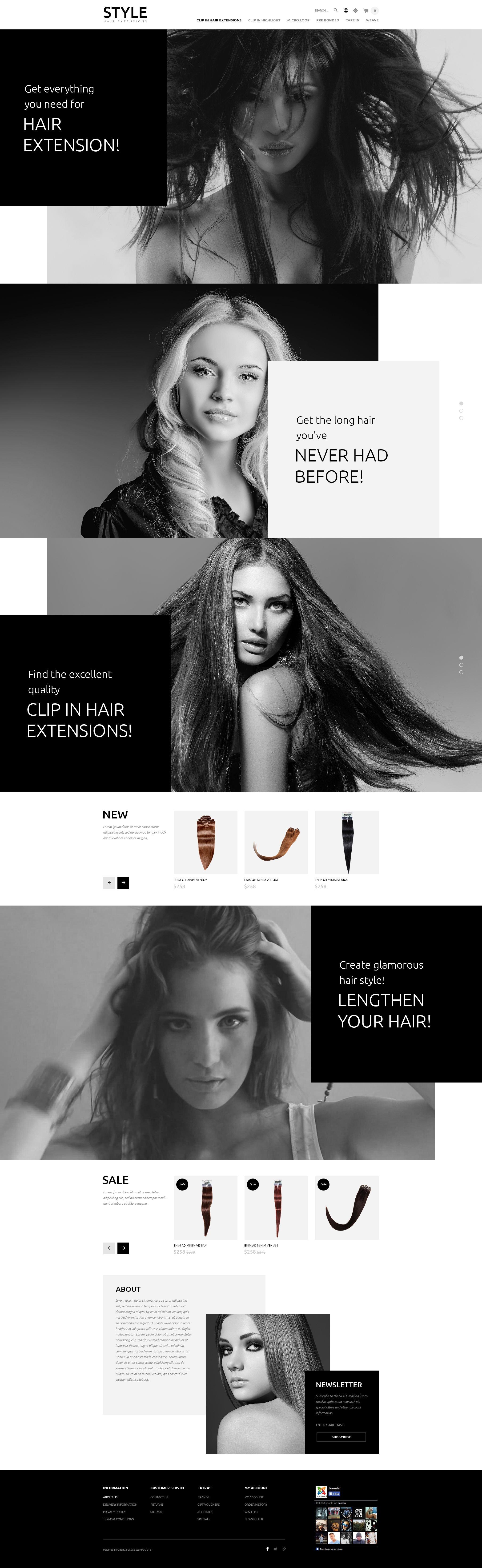 Responsywny szablon OpenCart Hair and Beauty Salon #54746