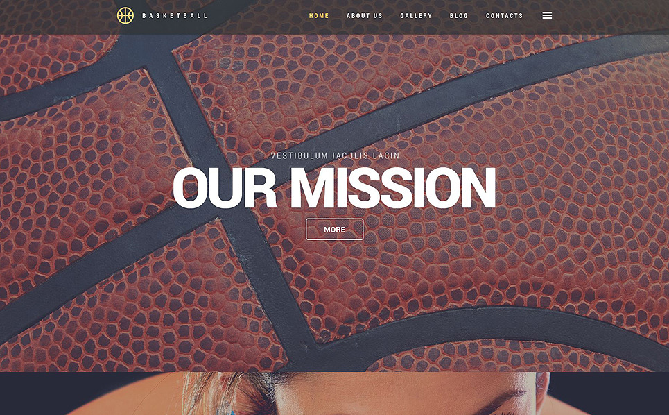 Responzivní WordPress motiv na téma Basketbal New Screenshots BIG