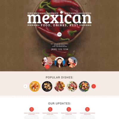 Mexican Restaurant Responsive WordPress Sablon