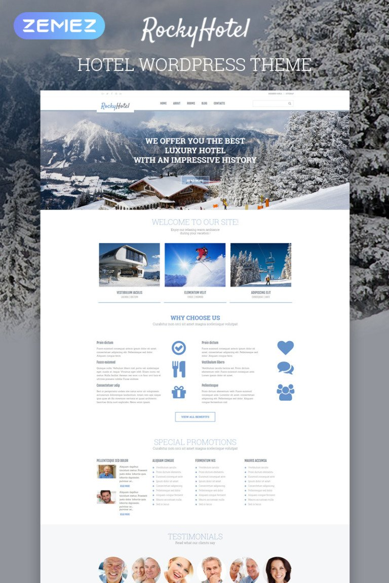Rocky Hotel WordPress Theme New Screenshots BIG