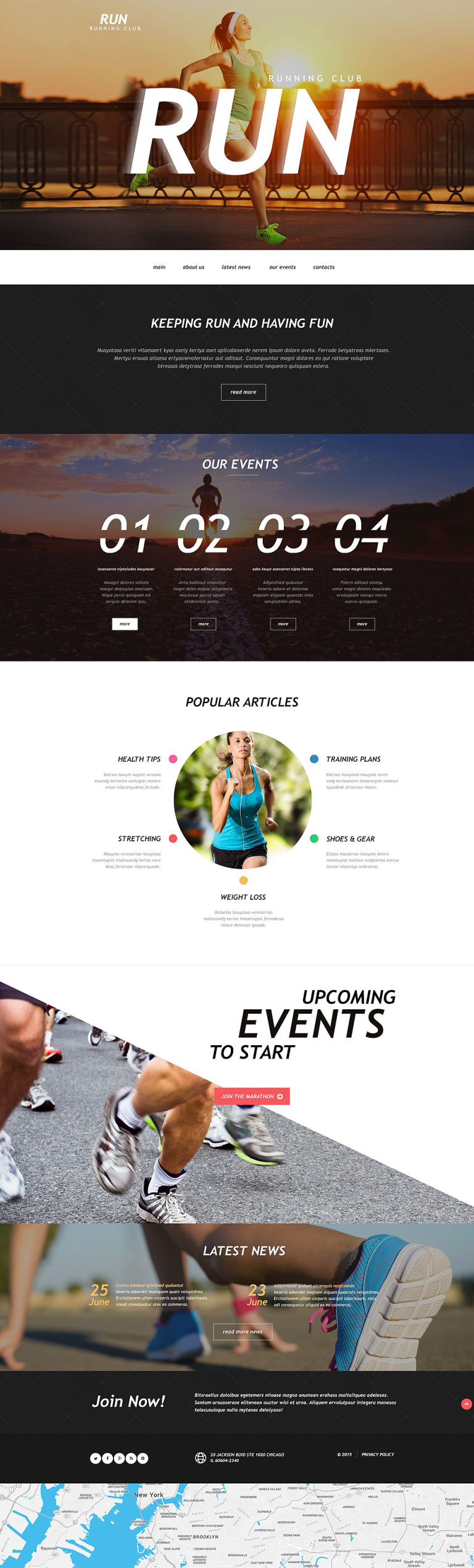 Running Muse Template New Screenshots BIG