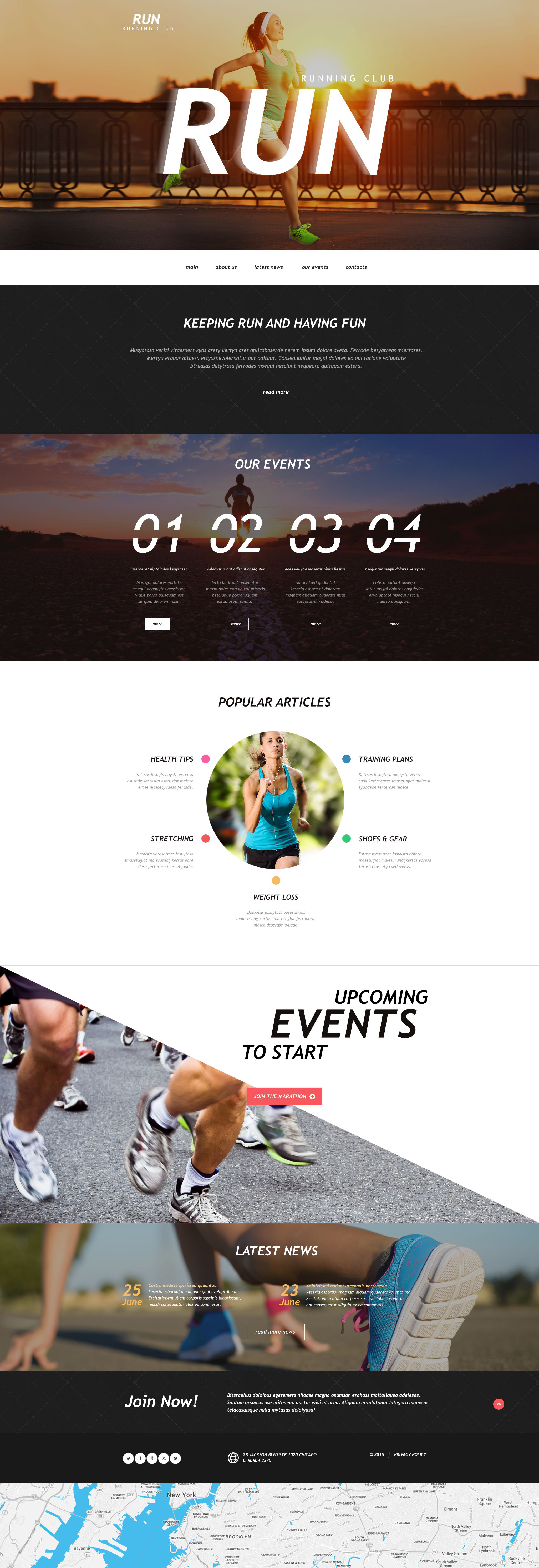 Running Muse Template