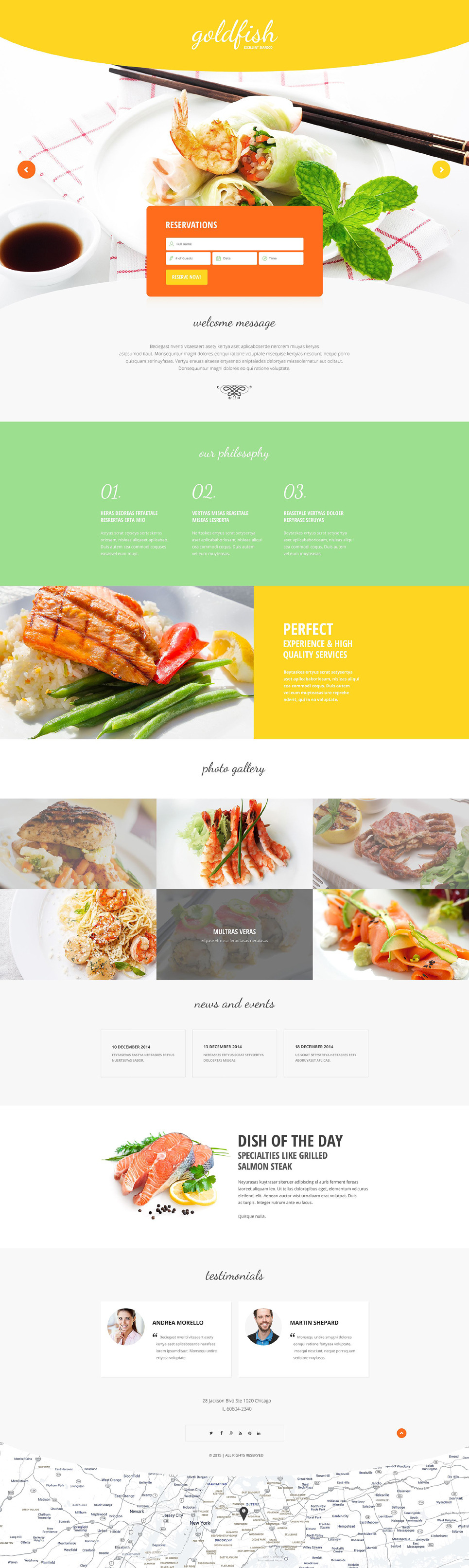 Seafood Restaurant Responsive Landing Page Template New Screenshots BIG