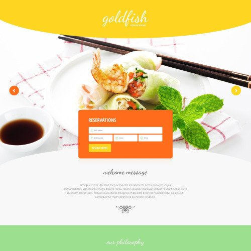 Goldfish - Responsive Landing Page Template