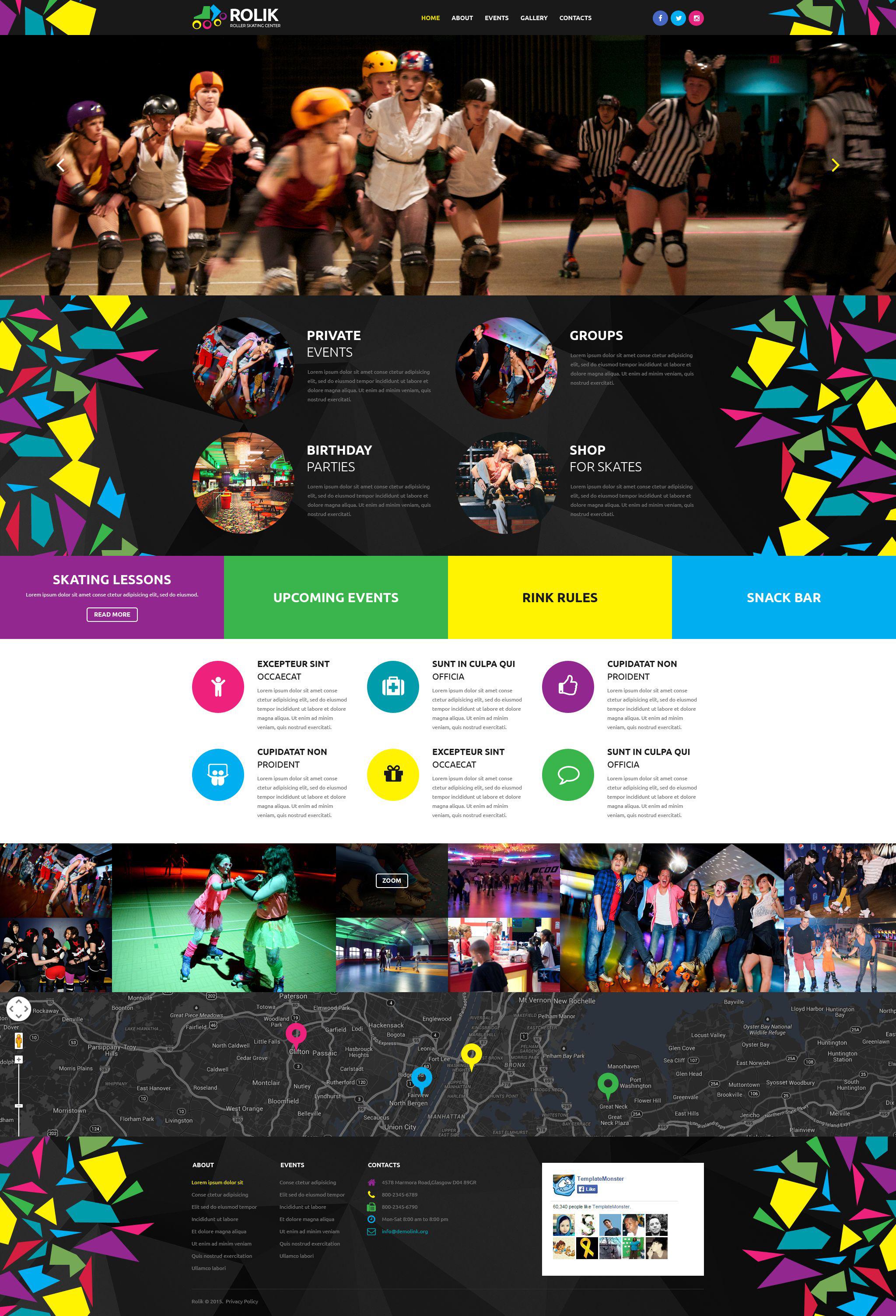Skating Center Website Template
