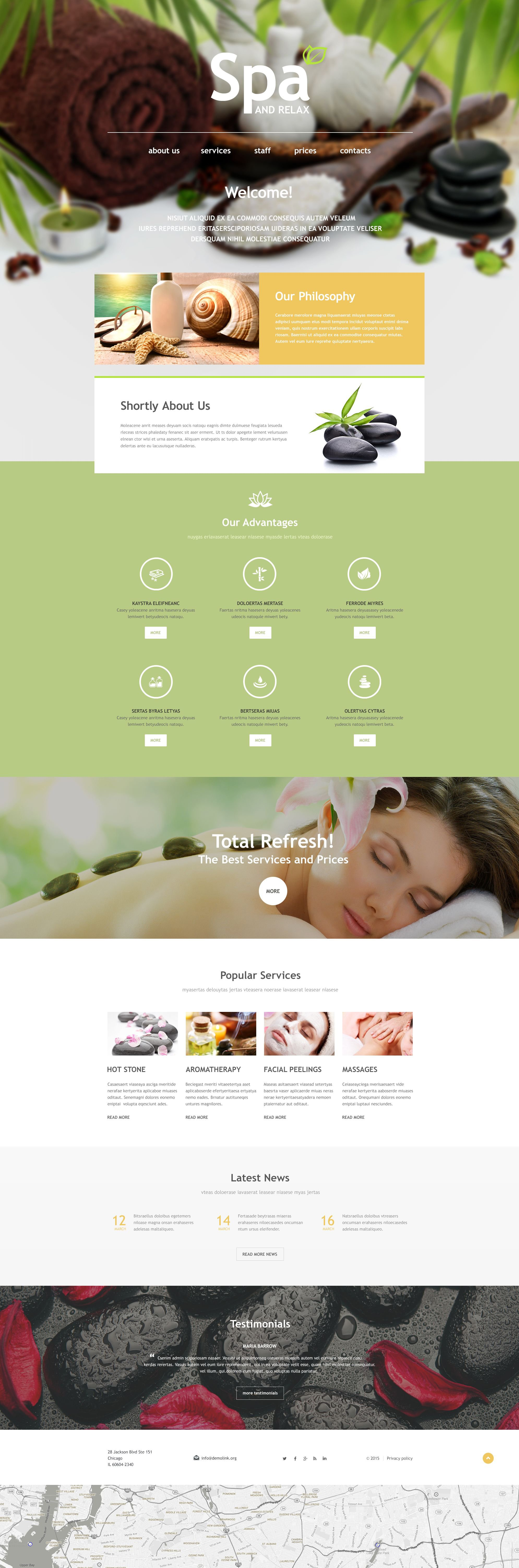 Spa Accessories Muse Template