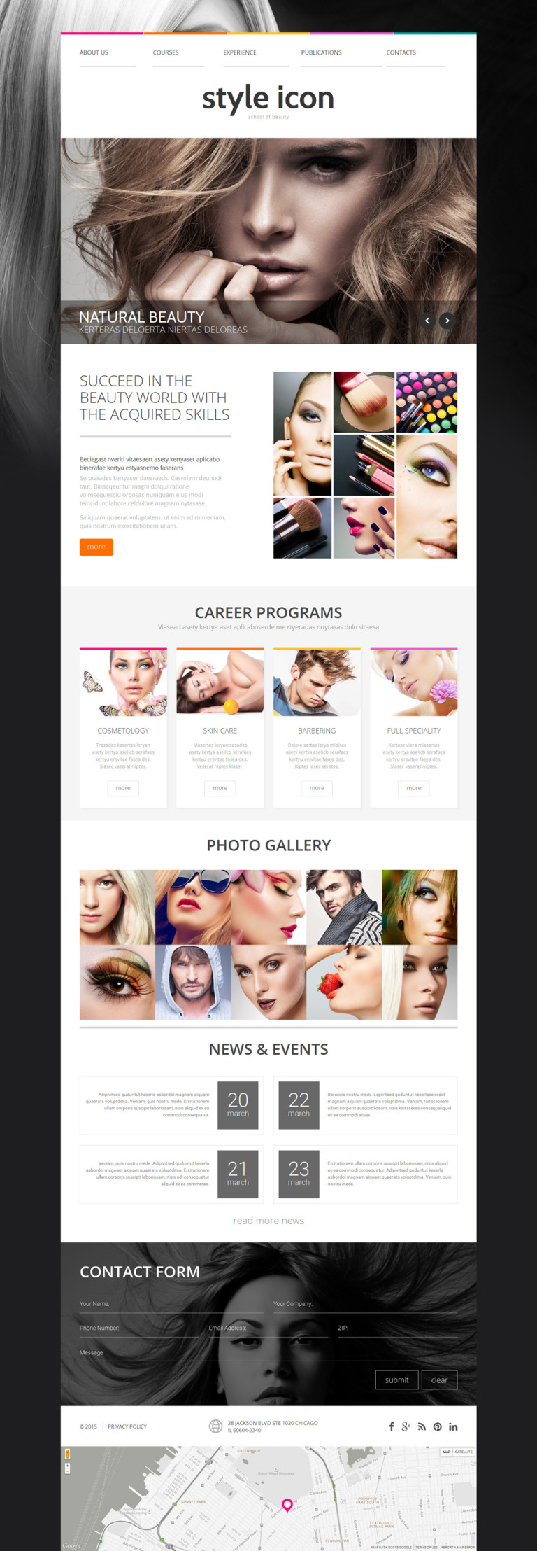 Style Icon Website Template New Screenshots BIG