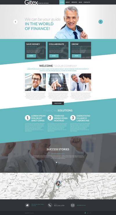 Responsive Tema De WordPress #54794 para Sitio de  para Sitio de Negocio y Servicios