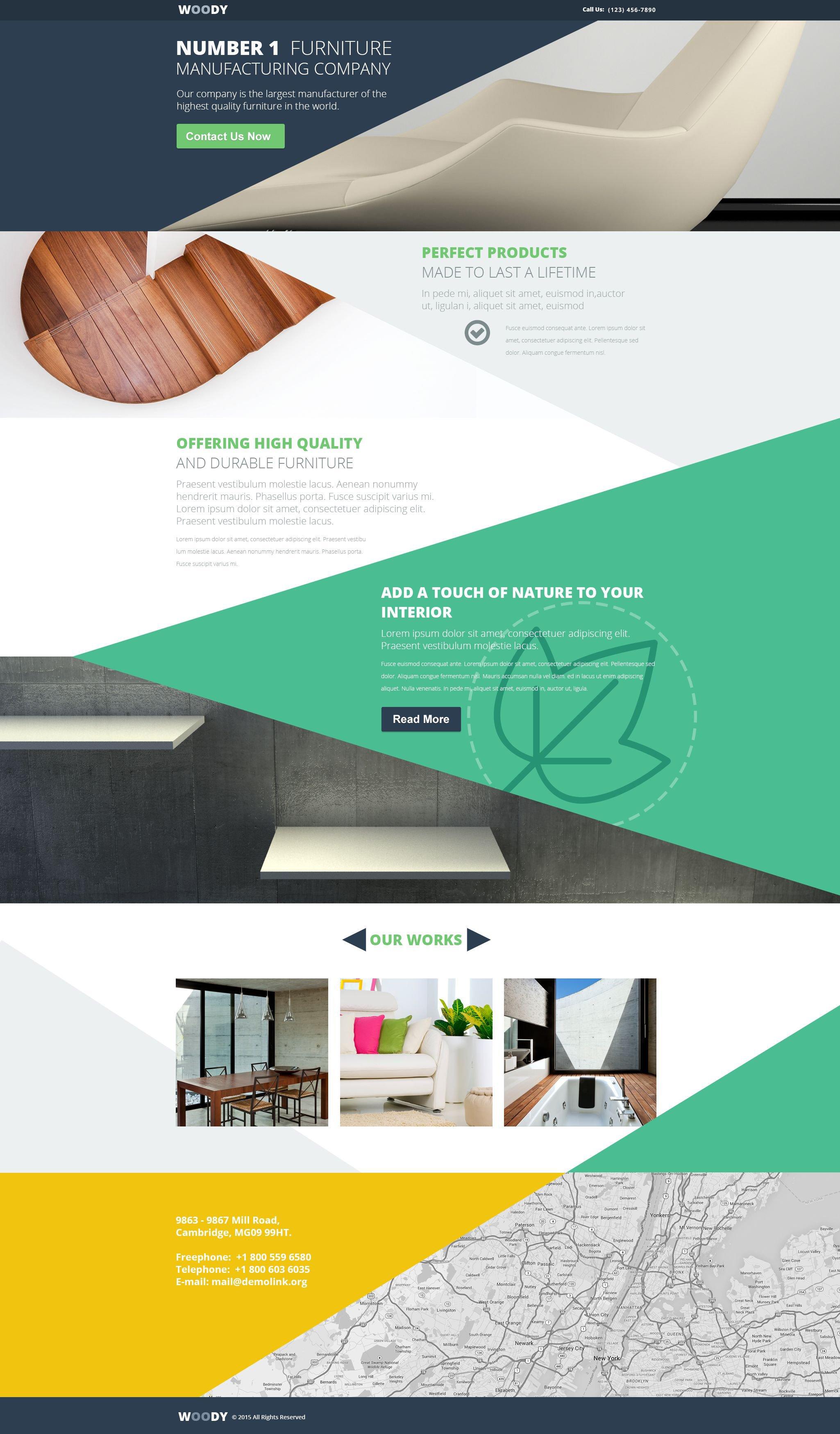 Template di landing page 54723 per un sito di arredamento for Sito arredamento design