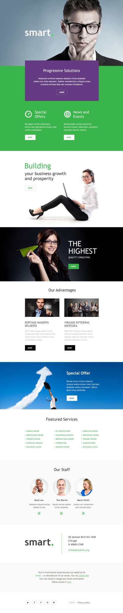 Business Responsive Template Di Newsletter