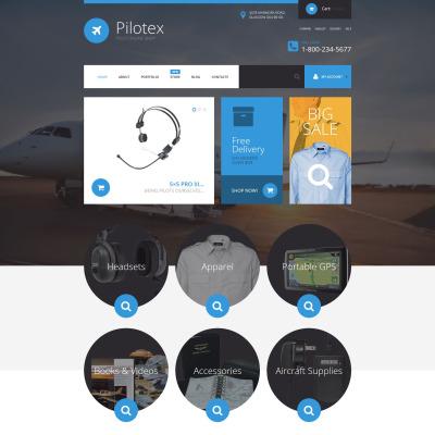 Responsive Tema WooCommerce #54736 para Sitio de  para Sitio de Aerolíneas privadas