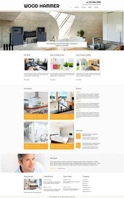 Home Remodeling Tema Moto CMS HTML