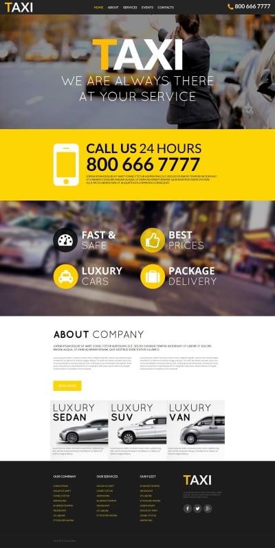 Taxi Tema Moto CMS HTML