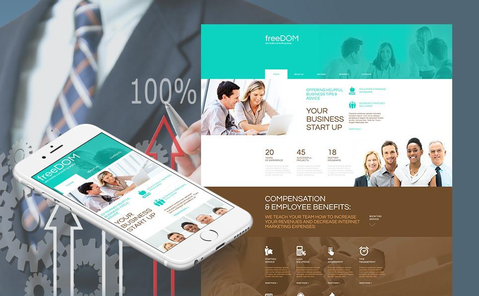 Template Moto CMS HTML para Sites de Negócios e Prestadores de Serviços  №54764 New Screenshots BIG