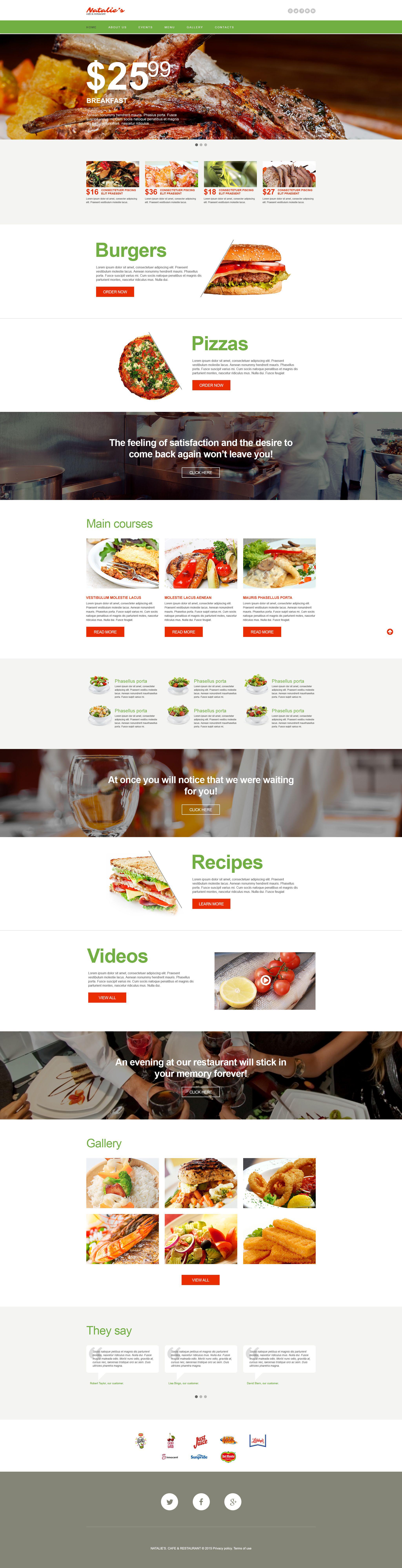 Template Muse para Sites de Cafeteria e Restaurante №54781 - captura de tela