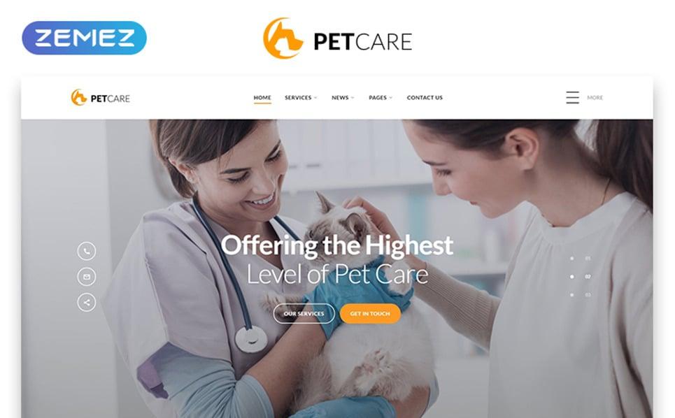 Template Web Flexível para Sites de Cuidado de animais №54704 New Screenshots BIG