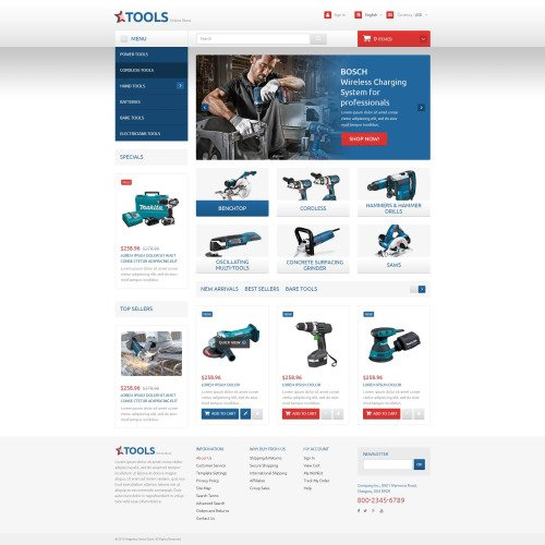Tools and Equipment - PrestaShop Template based on Bootstrap