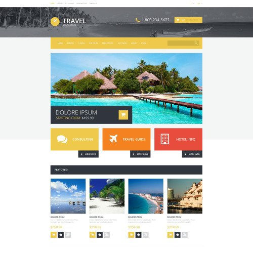 Travel  - OpenCart Template based on Bootstrap
