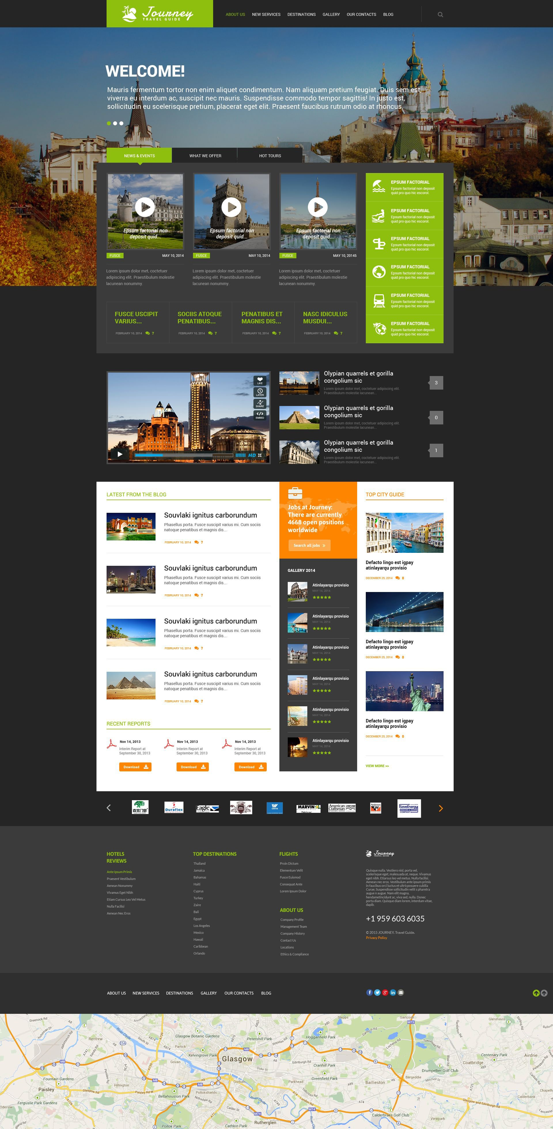 Travel Guide Responsive WordPress Theme - screenshot