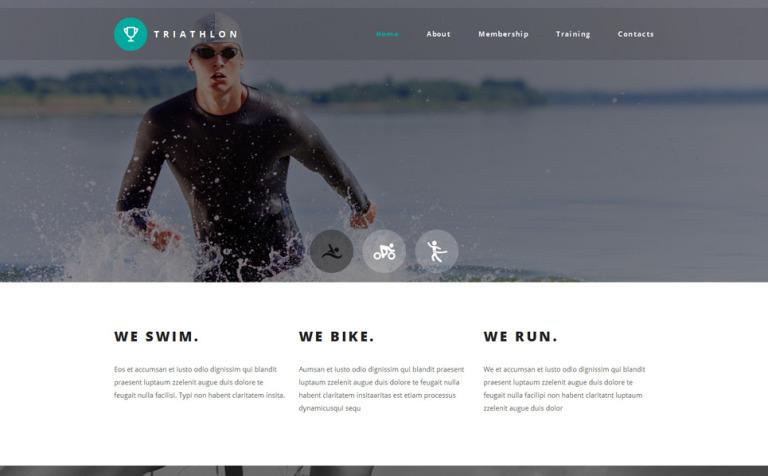 Triathlon Club Website Template